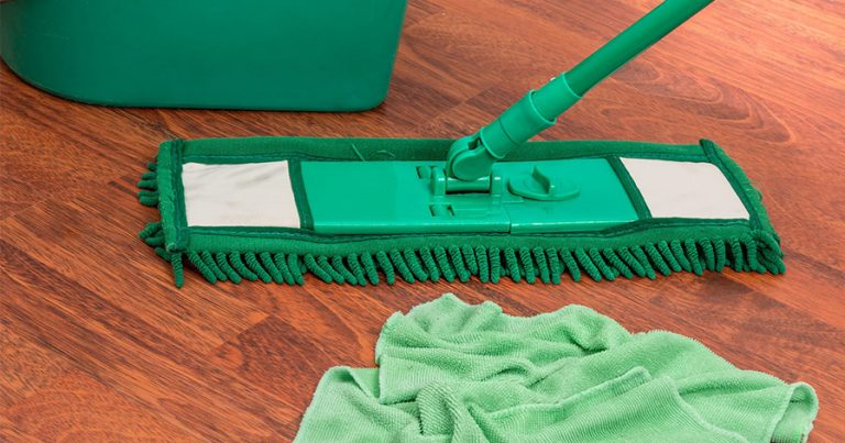 Mop with bucket and rag