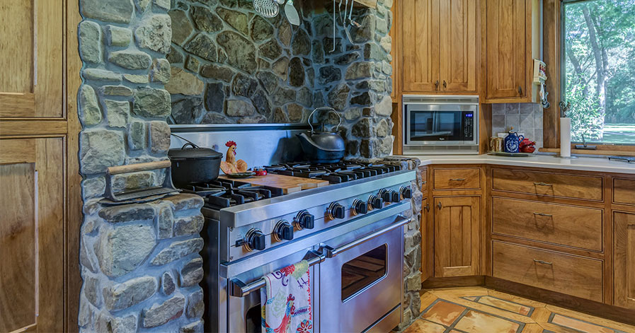 Stove in a nice kitchen