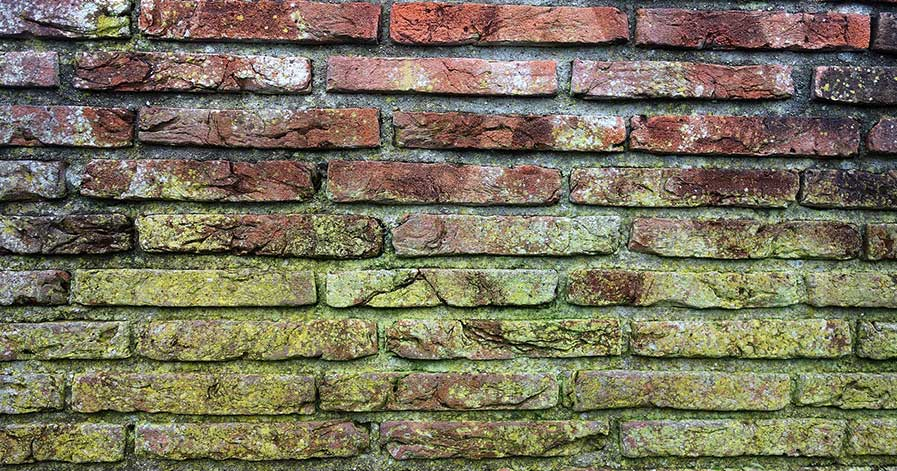 Discolored bricks