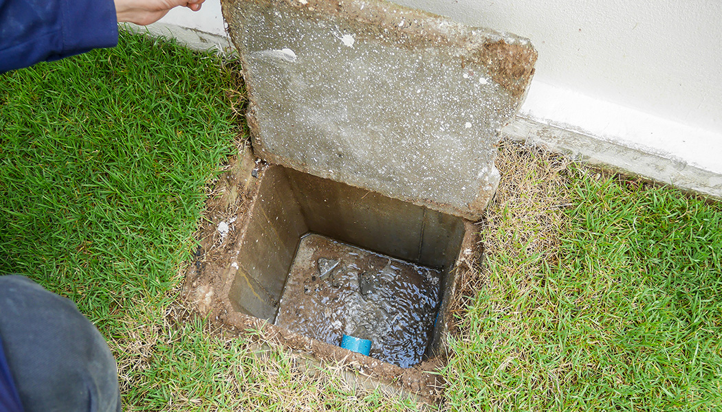 a backed up sewer drain