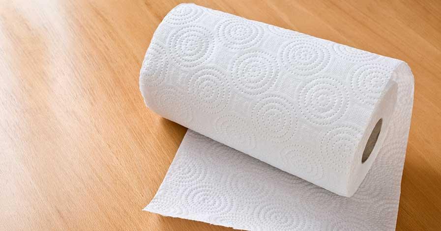 A paper towel roll