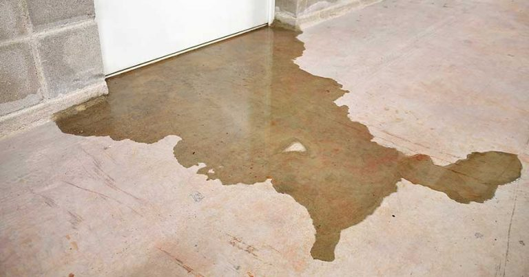 Water leak in a basement