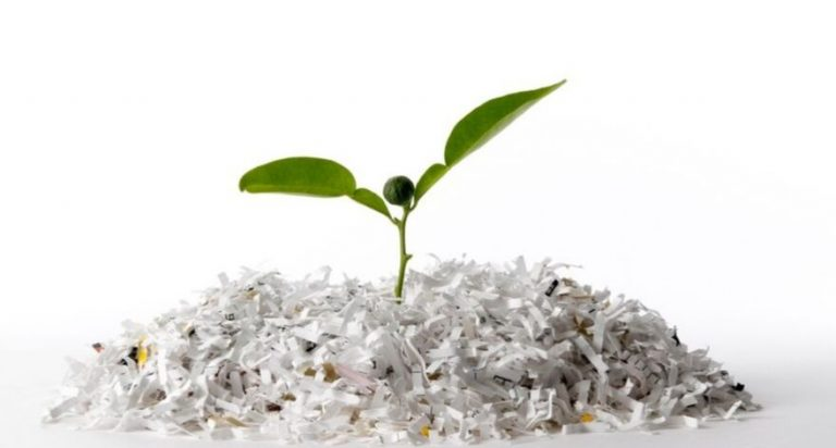 Shredded paper can be used as compost.