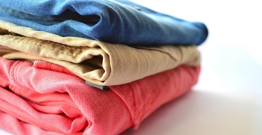 Folded laundry.